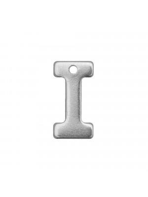 """Ciondolo a forma di lettera """"I"""", 11x6 mm., in Acciaio"""