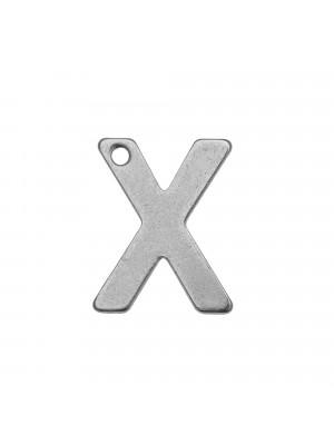 """Ciondolo a forma di lettera """"X"""", 11x9 mm., in Acciaio"""