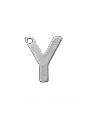 """Ciondolo a forma di lettera """"Y"""", 11x9 mm., in Acciaio"""
