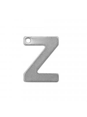 """Ciondolo a forma di lettera """"Z"""", 11x8 mm., in Acciaio"""