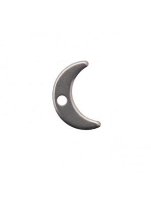 Ciondolo, in Acciaio, a forma di Luna, 7x11 mm.