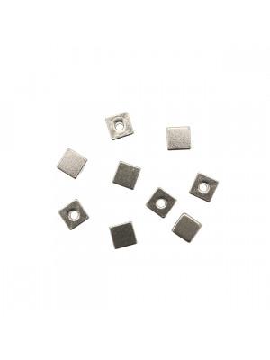 Distanziatore a cubo liscio, 5x5 mm., in Acciaio