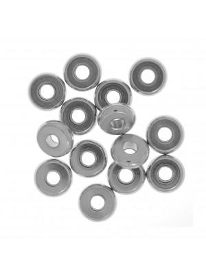 Distanziatore a forma di rondella liscia, 6x2x1,8 mm., in Acciaio
