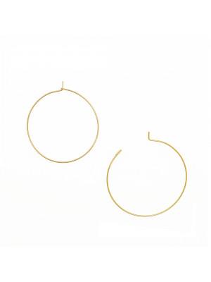 Cerchio per orecchino, liscio, con chiusura a gancio, in Acciaio, diametro 35 mm.