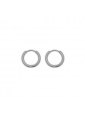 Cerchio per orecchino, in Acciaio, con chiusura ad incastro, diametro 14 mm.