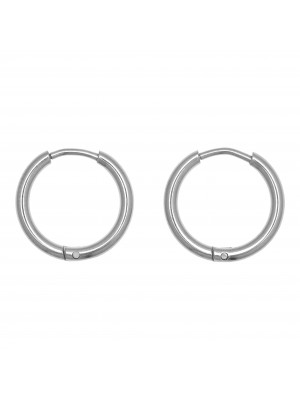 Cerchio per orecchino, in Acciaio, con chiusura ad incastro, diametro 16 mm.