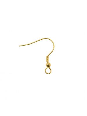 Monachella semplice, in Acciaio, spirale+pallina, colore Oro Lucido