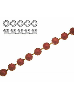 Catena strass francese, con cristalli non Swarovski, colore strass LIGHT AMETISTA SATINATO