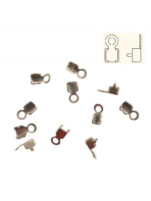 Finalino per catena strass, misura PP11-PP14 (1.70-2.10), con anellino chiuso finale