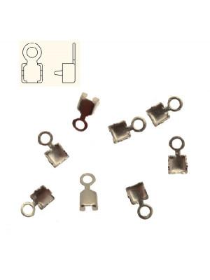 Finalino per catena strass, misura PP18 (2.40-2.50), con anellino chiuso finale