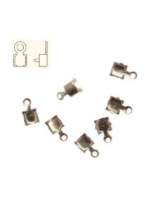 Finalino per catena strass, misura PP28 (3.50-3.60), con anellino chiuso finale