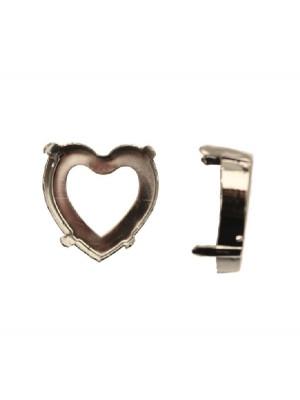 Castone per gemma o cabochon a cuore da 28 mm.