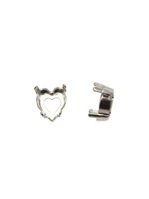 Castone per gemma a cuore da 8,8x8 mm.