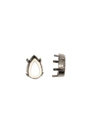 Castone per gemma o cabochon a goccia da 10x14 mm.