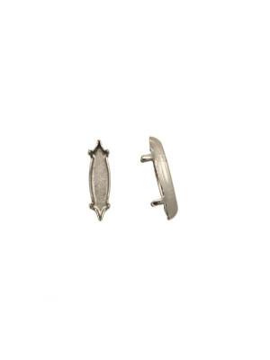 Castone per gemma o cabochon a navetta allungata da 15x4 mm.