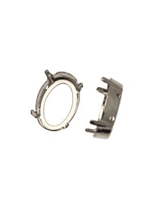Castone per gemma o cabochon ovale da 18x13 mm.