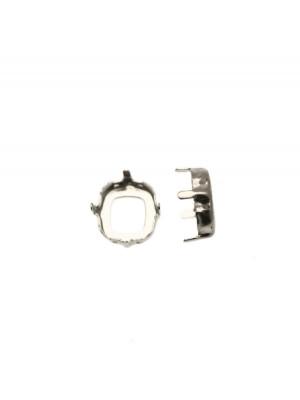 Castone per gemma o cabochon quadrato da 10 mm.