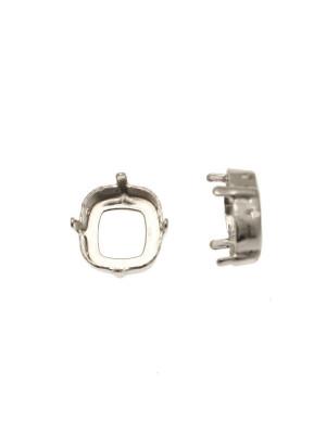 Castone per gemma o cabochon quadrato da 12 mm.