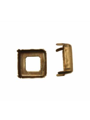 Castone per gemma o cabochon quadrato da 18x18 mm.