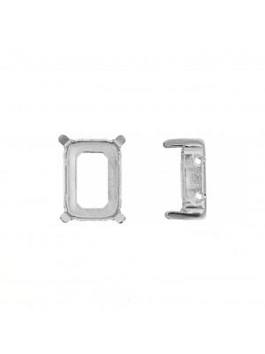 Castone per gemma o cabochon rettangolare da 14x10 mm. con gli angoli smussati.