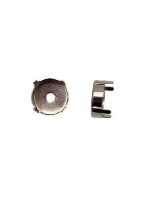 Castone per gemma o cabochon tondo da 15 mm.