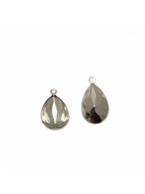 Porta gemma a goccia da 10x14 mm., a ciondolo, con un anello in alto.