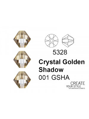 Swarovski Bicono CRYSTAL GOLDEN SHADOW - 5328