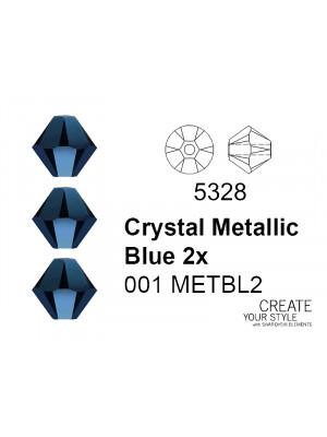 Swarovski Bicono CRYSTAL METALLIC BLUE 2X - 5328