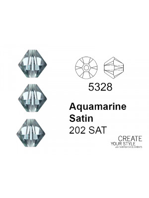 Swarovski Bicono AQUAMARINE SATIN - 5328