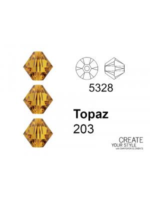 Swarovski Bicono TOPAZ - 5328
