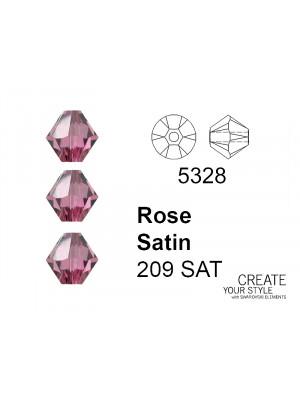Swarovski Bicono ROSE SATIN - 5328