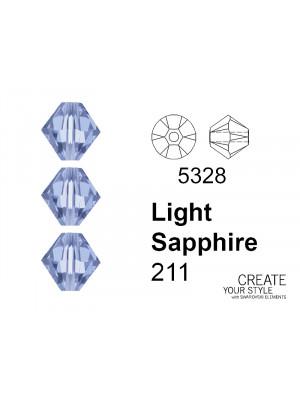 Swarovski Bicono LIGHT SAPPHIRE - 5328