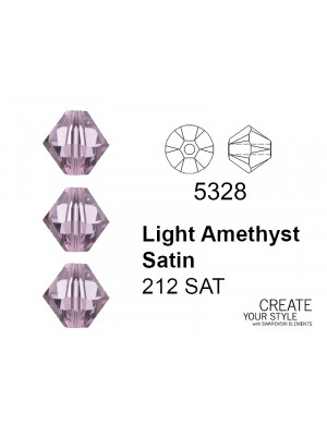 Swarovski Bicono LIGHT AMETHYST SATIN - 5328