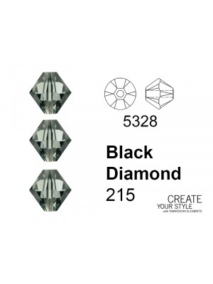 Swarovski Bicono BLACK DIAMOND - 5328