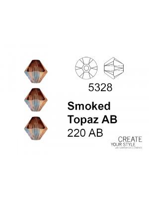 Swarovski Bicono SMOKED TOPAZ AB - 5328