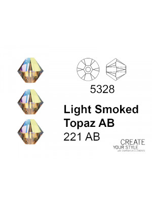 Swarovski Bicono LIGHT SMOKED TOPAZ AB - 5328