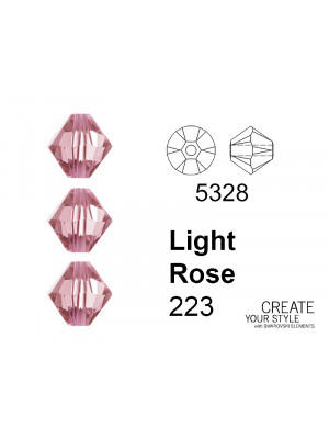 Swarovski Bicono LIGHT ROSE - 5328