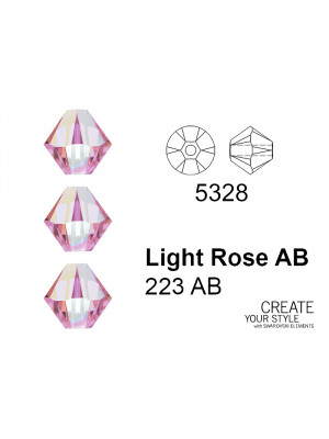 Swarovski Bicono LIGHT ROSE AB - 5328