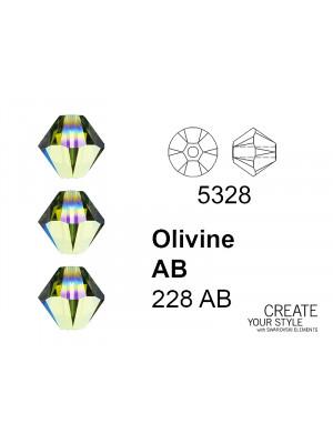 Swarovski Bicono OLIVINE AB - 5328