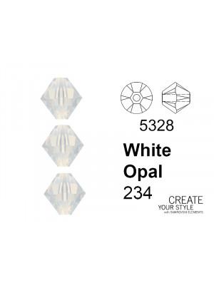 Swarovski Bicono WHITE OPAL - 5328