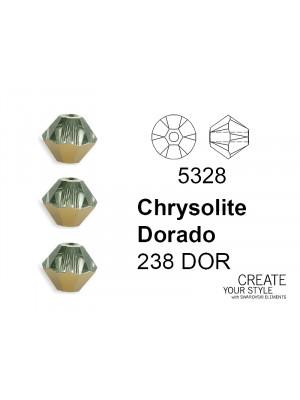 Swarovski Bicono CHRYSOLITE DORADO - 5328