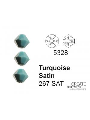 Swarovski Bicono TURQUOISE SATIN - 5328