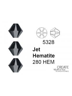 Swarovski Bicono JET HEMATITE - 5328