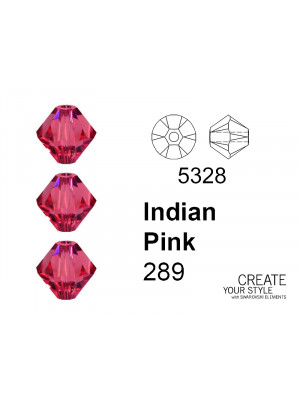 Swarovski Bicono INDIAN PINK - 5328