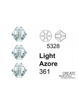 Swarovski Bicono LIGHT AZORE - 5328