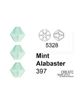 Swarovski Bicono MINT ALABASTER - 5328