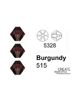 Swarovski Bicono BURGUNDY - 5328