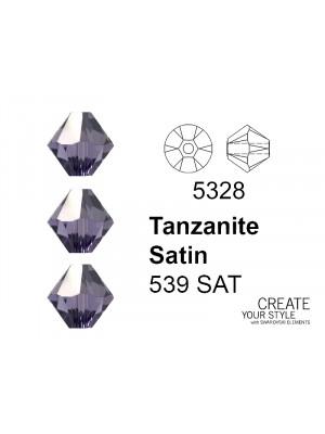 Swarovski Bicono TANZANITE SATIN - 5328