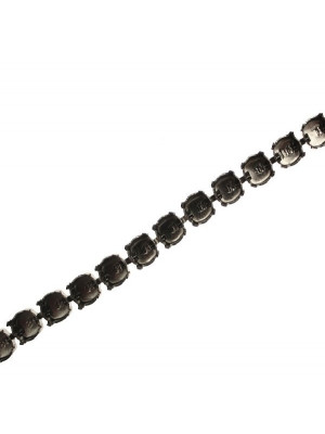 Catena porta strass, 7,2 mm. (SS34), base Antracite