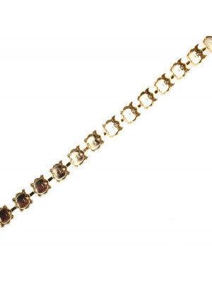 Catena porta strass, 7,2 mm. (SS34), base Oro lucido